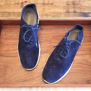 Cole Haan Zerogrand OS Wingtip Suede Sneakers 7
